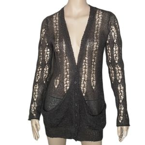 Urban Behavior Slouchy Open Weave Cardigan Sweater